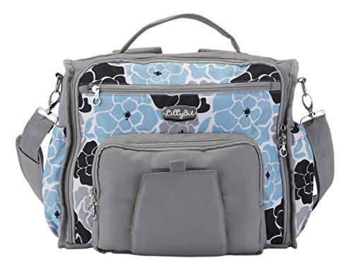 DEMDACO Lillybit Diaper Bag, Blue