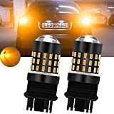 TUINCYN 3157 3156 Turn Signals LED Bulb Super Bright 3056 3057 4157 4057 3157 T25 LED Bulb 3014 54-EX Chipsets Light Bulb for Brake Light Backup Reverse Light DC 12V-24V Xenon White (2-Pack)