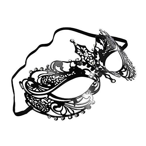 Keylleen Greek Goddess Masquerade Costume Mask Metal Rhinestone Party Evening Prom Mask (Style 2)