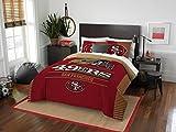 Northwest Enterprises San Francisco 49ers Combo 5 Pc Full/Queen Size Comforter Set Includes: Comforter, 2 Pillow Shams & 2 Pillowcases -NFL Football Bedding Accessories
