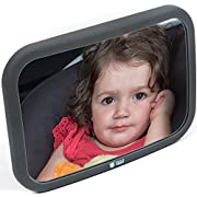 Baby Car Mirror for Rear Facing Infant- Back Seat Shatterproof Mirror with Perfect Reflection