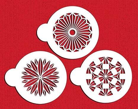 Designer Stencils C831 Retro Circle Set Beige//semi-transparent