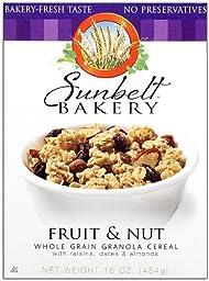 Sunbelt Fruit & Nut Granola Cereal, with Raisins, Dates, & Almonds, 16 Oz. (3 Pack)