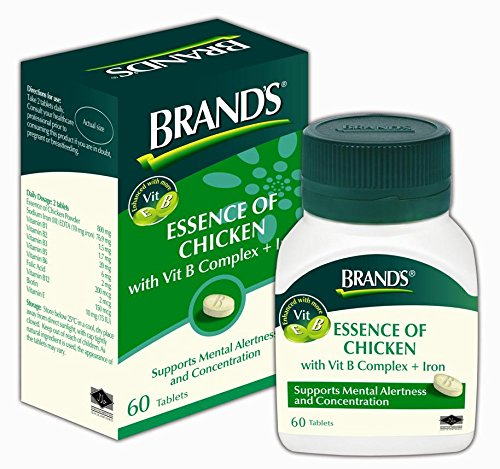 Brands Essence of Chicken with Iron and B Vitamins 60 Tablets. [Free for You Beauty Gift]