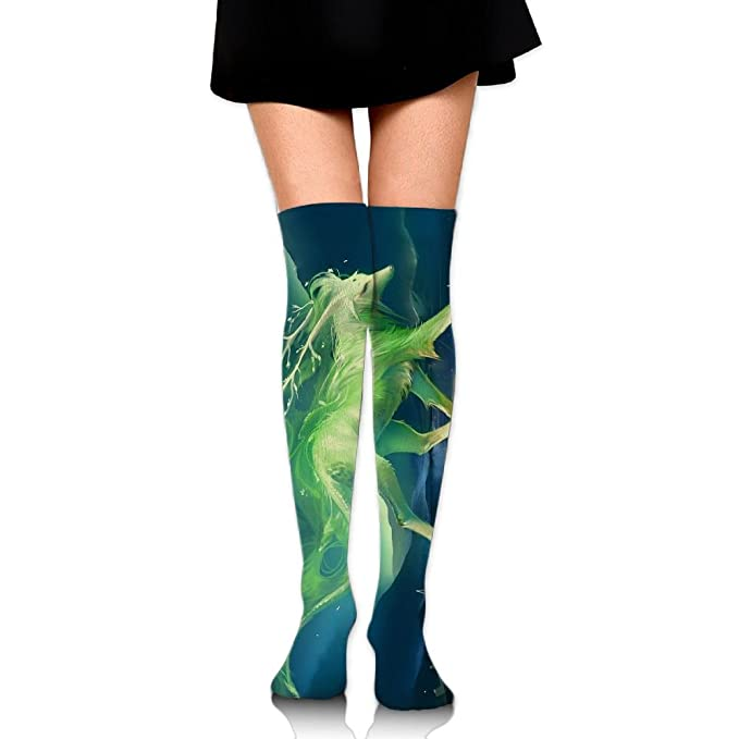 Women Crew Socksc Thigh High Over Knee Mythical Creatures Anime Fantasy Long Tube Dress Legging Compression
