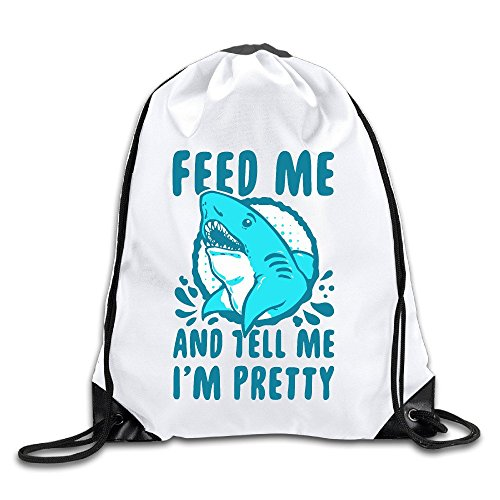 Runy Custom Feed Me And Tell Me I Am Pretty Adjustable String Gym Backpack - Eyeglass Levis Frames