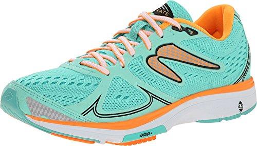 NEWTON Running Women's Fate Mint/Orange Sneaker (6)