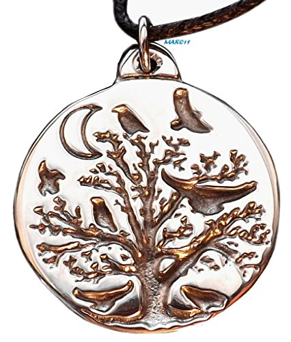 Raven Tree - Pewter Pendant - (version-2) Casting, World Tree, Oak, Ravens, Mystical, Power Animal, Celtic, Norse, Pendant, Can be used as is strung on cord, or as an accent to your bead work.
