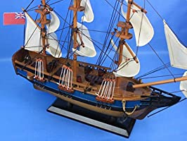 Amazon Com Hampton Nautical Wooden Hms Bounty Tall Model Ship 20 Toys Games