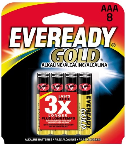 EVEA92BP8 - Eveready A92BP-8 Alkaline AAA Size General Purpose Battery