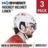 No Sweat Hockey Helmet Liner — Moisture Wicking Sweatband Absorbs Dripping Sweat | Helps Prevent Acne, Reduces Fogging / Anti-Fog – (Hockey Players / Officials and Referee)