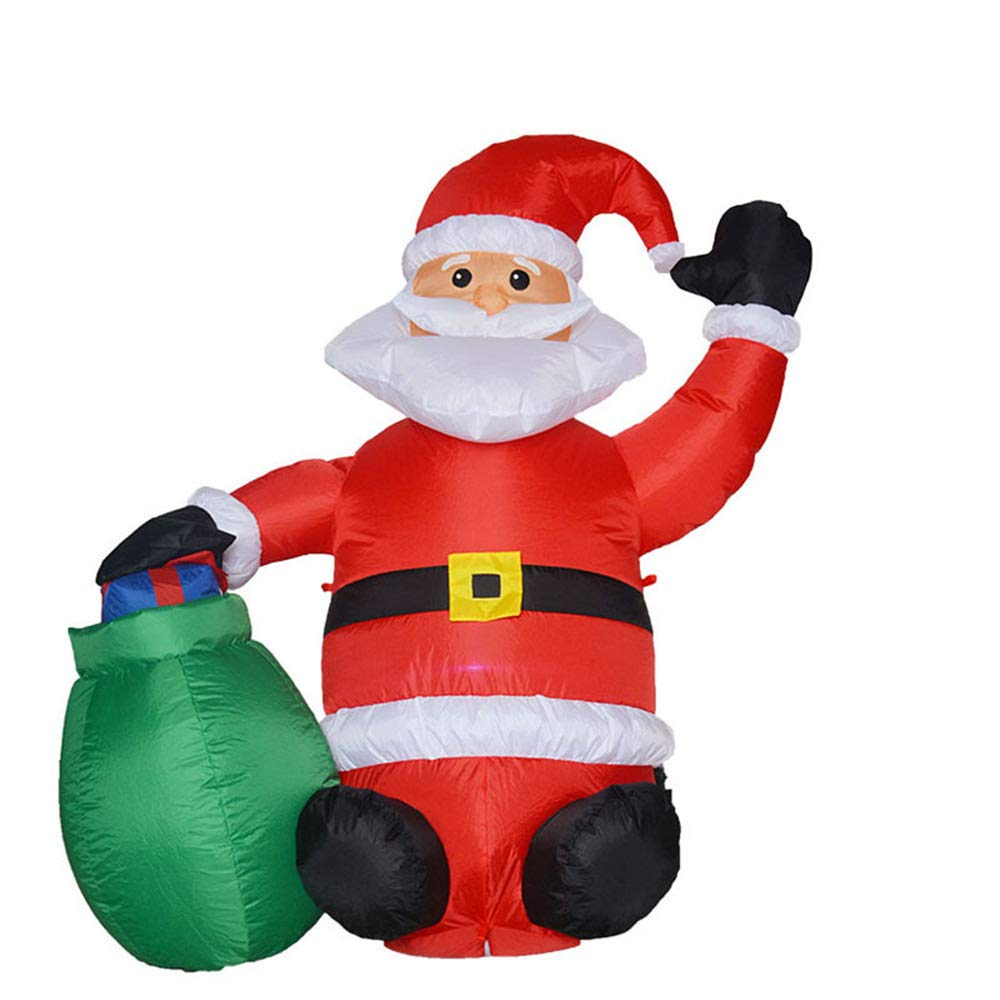 Promoción por tiempo limitado Zhou Yunshan Decoración navideña para el hogar. Inflables LED Luz Santa Navidad Decoraciones Patio Festival Adornos Apoyos Regalos Decorativos para la Fiesta de Navidad feli