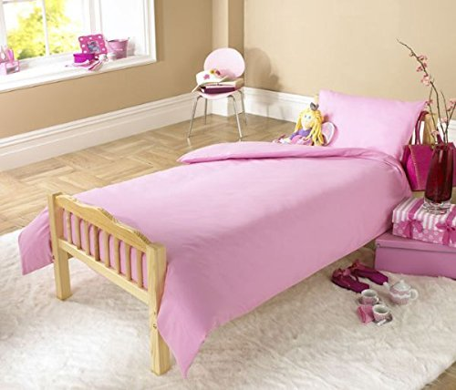 JOYSLEEP Children's Duvet Cover Set 100% Egyptian Cotton, Pink LOVE2SLEEP