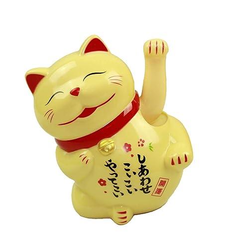 HAAC Gato de Gato de la Suerte Amuleto Color Amarillo 15 cm