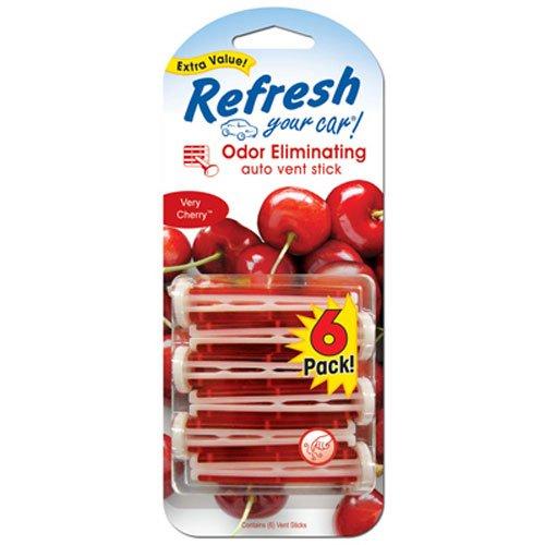 Refresh Your Car! E301446900 Auto Vent Stick, Very Cherry, 6 Per Pack