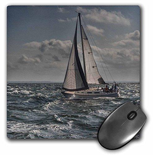 3dRose velero en las aguas turbulentas–Cojín de mouse, 8por 8inches (mp 203178_ 1)
