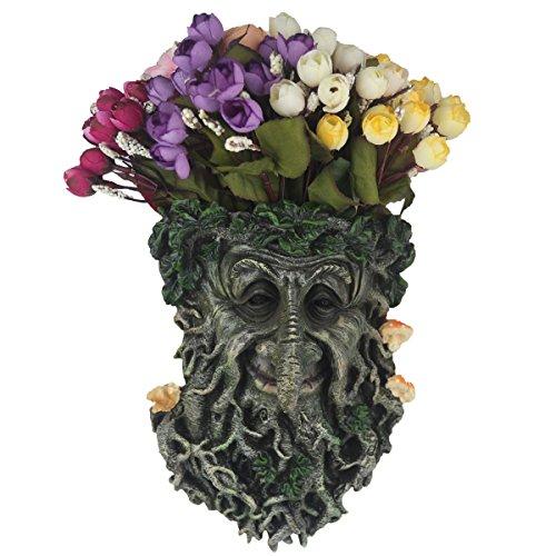 Flower Pot, Tree Face Garden Decoration, Garden Planters Outdoor Indoor, Unbreakable Resin Flower Plant. (Mushroom Tree face)