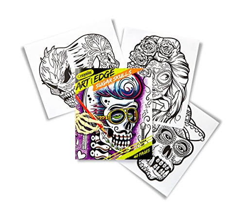 Crayola Sugar Skulls Coloring Book For Teens
