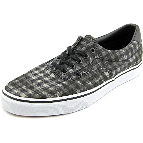 Era Unisex Distressed Black Shoe Plaid Plaid Leather Vans Skate OUx5qTxw