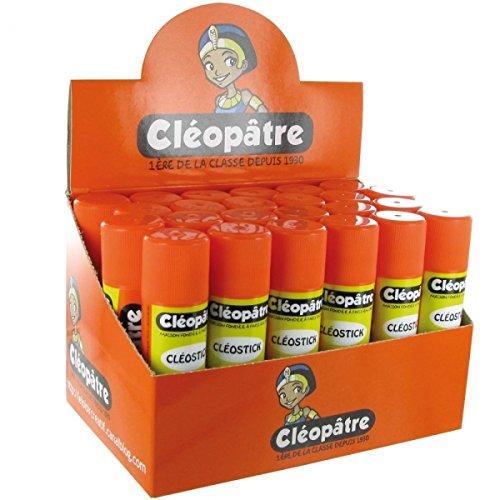 Lot de 24 Cléostick - Bâton de colle 21g - En présentoir Cleopatre