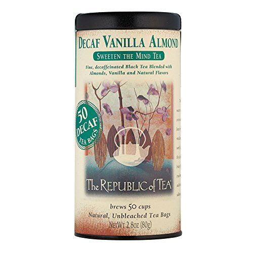 Republic Of Tea Almond Tea (The Republic Of Tea Decaf Vanilla Almond Black Tea, 50 Tea Bags, Madagascar Vanilla Bean And Almond Bits)