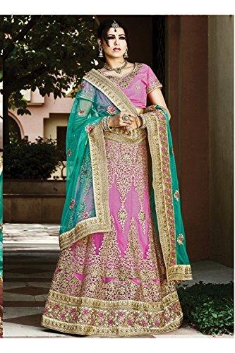 Da Facioun Indian Women Designer Wedding pink Lehenga Choli K-4883-43360