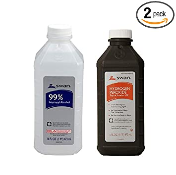 Amazon Com Swan Isopropyl Alcohol 99 Percent And Hydrogen Peroxide