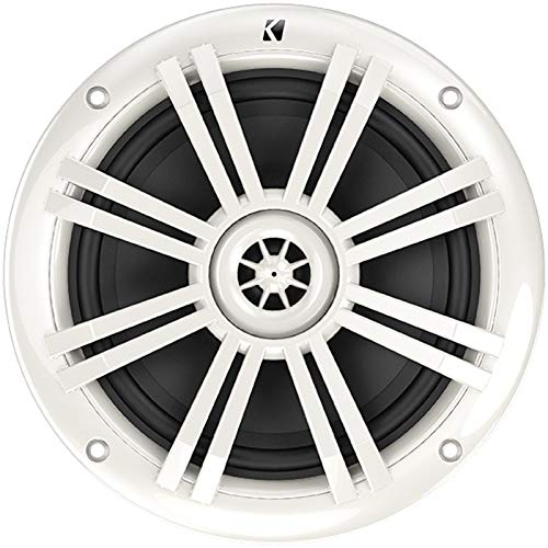 "KICKER Bundle of 9 Items 44KXMA800.8 8-Channel KXM Series Marine Amplifier with 41BKM604W 6-1/2"" KM Series 2-Way Speakers White (4 Pairs)"