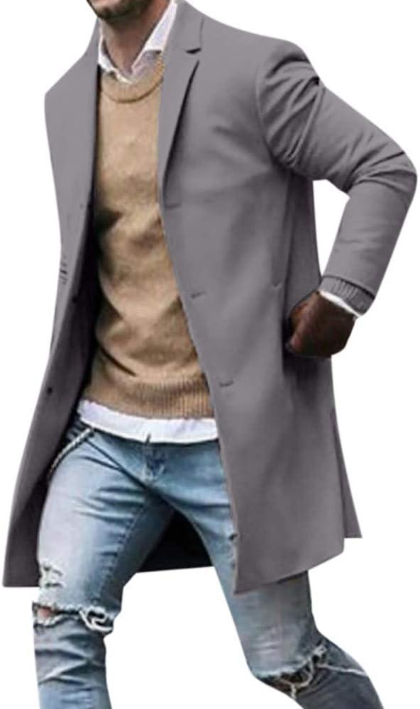 manteau homme trench chaud mi-longue mode