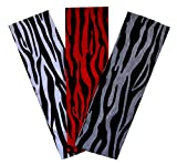 Zebra Print Cotton Stretch Headbands SET OF 3 for Fashion or Workout