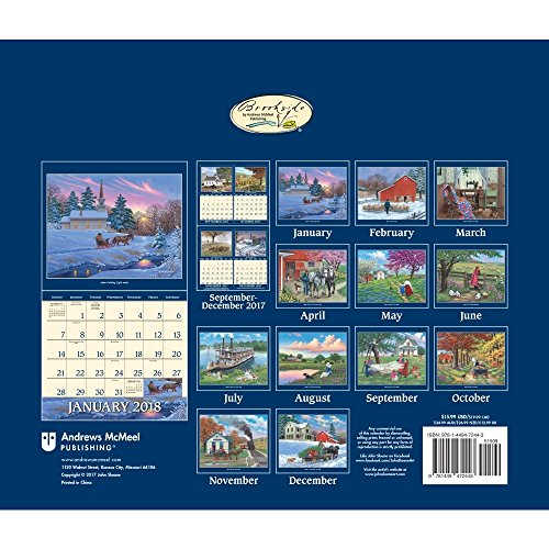 John Sloane's Country Seasons 2018 Deluxe Wall Calendar