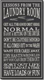 My Word Laundry Room-8.5 x 16, Dark Grey with White Lettering