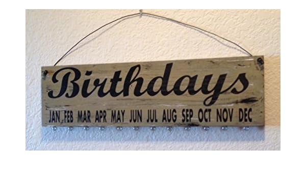 Mesa de cumpleaños - cumpleaños (cursiva) - marrón cartel ...