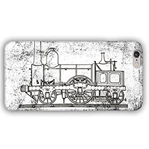 Steampunk Steam Train Locomotive Architectural Drawing iPhone 6 Plus Slim Phone Case