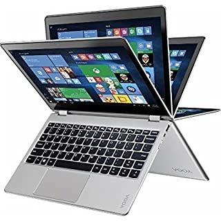 """Lenovo - Yoga 710 2-in-1 80V6000PUS 11.6"""" Touch-Screen Laptop - Intel 7th Generation Core i5-7Y54-8GB Memory - 128GB Solid State Drive - Silver"""