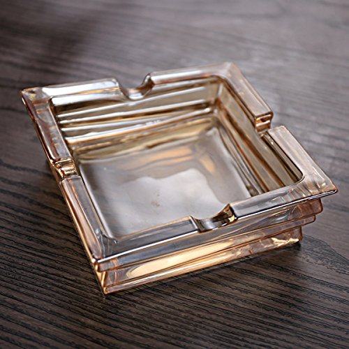 DONG Ashtray Home Use Creative American Crystal Glass Simple Polygon Quads Ashtray (Color : Quadrilateral)