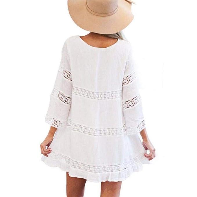 VIASA_ Women Lace Hollow Mini skit, Boho Beach Short Mini ...