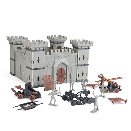 Castle Model (Aspire DIY Knight Castle Building Military Plastic Fort Model Kit With Figures)