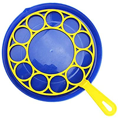 CHoppyWAVE Bubble Wands Favors Toys Gift for Kids Child,Water Blowing Soap Bubble Blower Plate Interactive Toy for Party,Blow Plastic Funny Gift B: Home & Kitchen