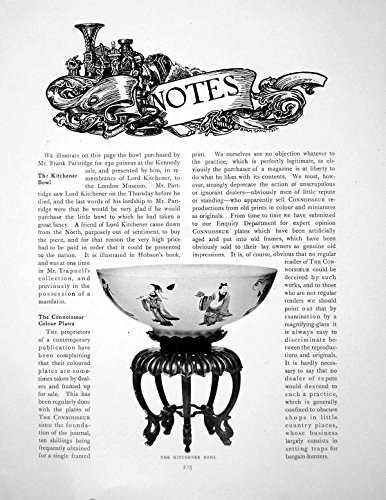 Serpent Bowl - old-print Print Notes The Kitchener Bowl A Military Serpent 2 Pages 1916 225Q145