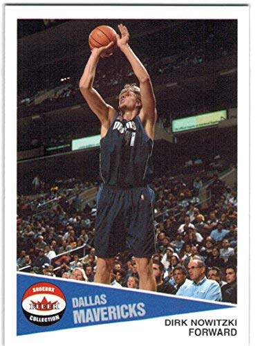 2001-02 Fleer Shoebox Dallas Mavericks Team Set with Dirk Nowitzki & Steve Nash - 6 NBA Cards (Mavericks Shoe Basketball Nba)