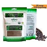 Certified Organic 80g Gourmet Ground Black Pepper