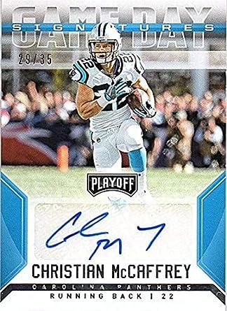 2018 Panini Playoff Game Day Signatures  3 Christian McCaffrey AUTO 29 35 Carolina  Panthers 048da6bd8
