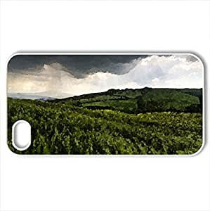 Black Clouds - Case Cover for iPhone 4 and 4s (Watercolor style, White)