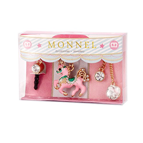 Cell Phone Charm Anti Dust Plug Pink Unicorn Accessory for iPhone 5 5s 6 6s, ipods, ipads IP671-M0316