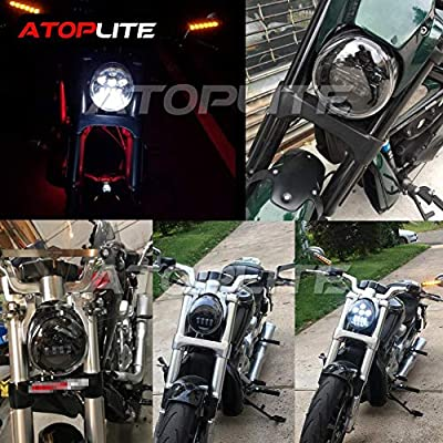 ATOPLITE Vrod Led Headlight For VRSCA V-Rod: Automotive