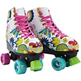 Stemax Quad Roller Skates for Boys - Girls and Women- Outdoor-Indoor. Classic High Cuff with adjustable Lace System for kids size 2.5 Kids – 8.5 Women