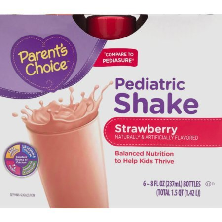 Parent's Choice 48 fl oz Strawberry Pediatric Shake, 6 Counts by Parent's Choice