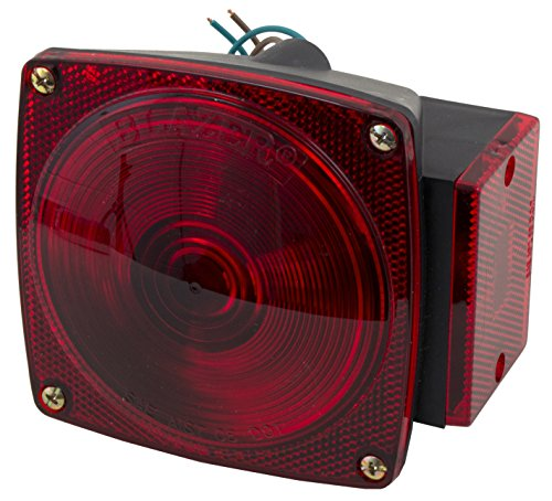 Blazer B93 6-Function Square Combination Stop/Tail/Turn Light - Pack of (Trailer Tail Light Lens)