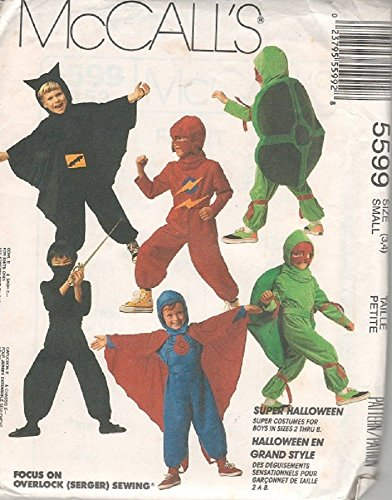McCall's Pattern 5599 Kid's Super Hero Costumes - Size Small (3/4)